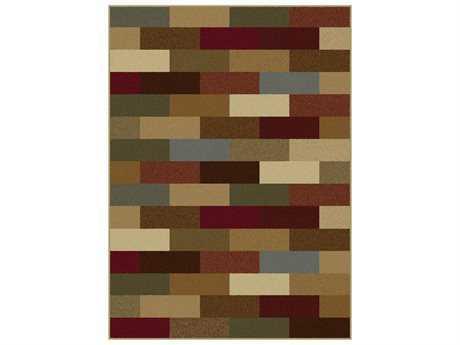 Tayse Rugs Elegance Alex Rectangular Brown Area Rug