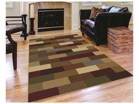 Tayse Rugs Elegance Alex Rectangular Brown Area Rug