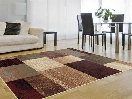 Tayse Rugs Elegance Rectangular Augusta Brown Area Rug