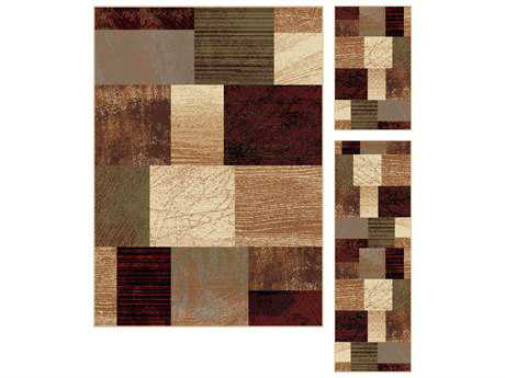 Tayse Rugs Elegance Augusta Rectangular Multi-Color Area Rug Set