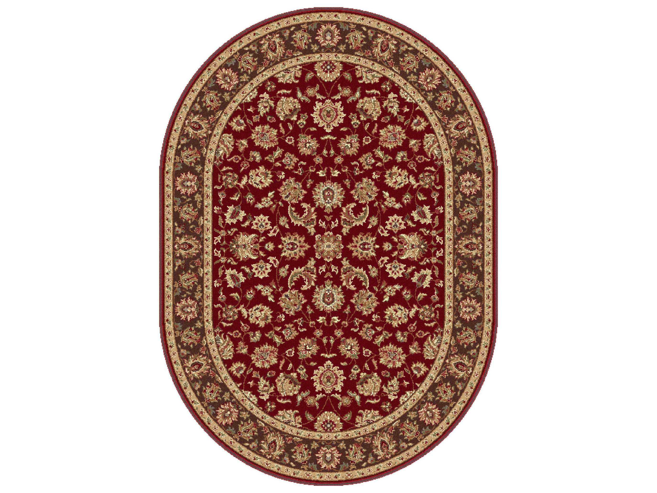 tayse rugs elegance davenport oval red area rug