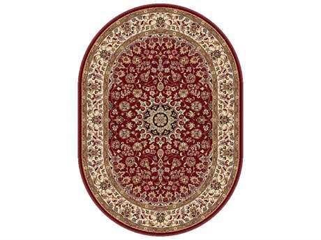 Tayse Rugs Elegance Victoria Oval Red Area Rug