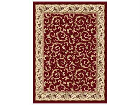 Tayse Rugs Elegance Westminster Rectangular Red Area Rug