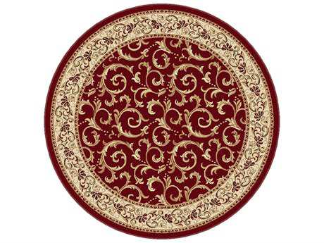 Tayse Rugs Elegance Westminster Round Red Area Rug
