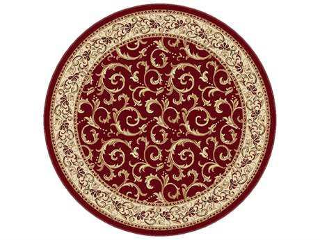 Tayse Rugs Elegance Westminster Round Red Area Rug