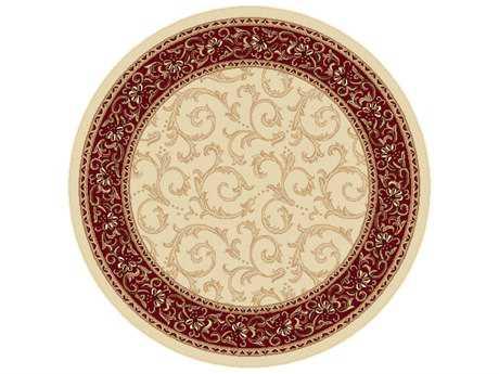 Tayse Rugs Elegance Westminster Round Beige Area Rug
