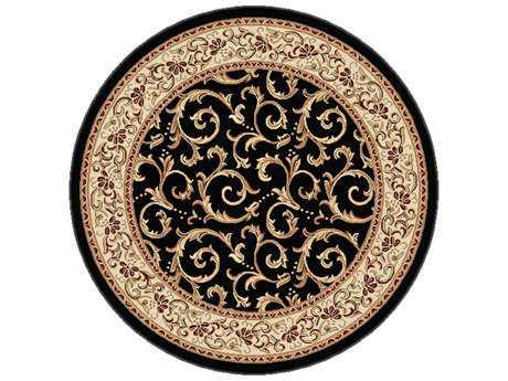 Tayse Rugs Elegance Westminster Round Black Area Rug