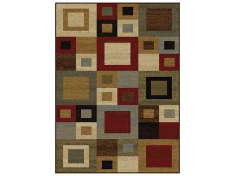 Tayse Rugs Elegance Jamie Rectangular Multi-Color Area Rug