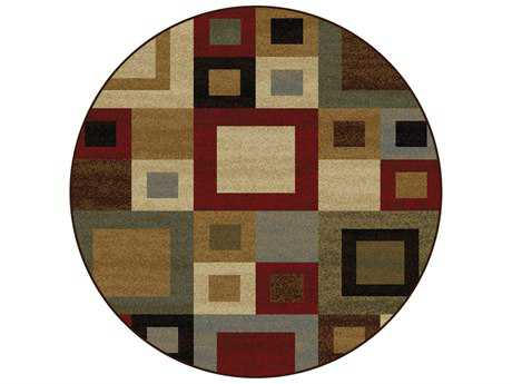 Tayse Rugs Elegance Jamie Round Multi-Color Area Rug