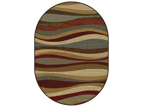 Tayse Rugs Elegance Norfolk Oval Multi-Color Area Rug