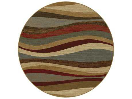 Tayse Rugs Elegance Norfolk Round Multi-Color Area Rug