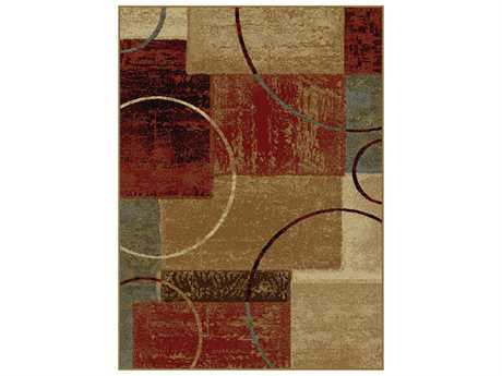 Tayse Rugs Elegance Tacoma Rectangular Red Area Rug