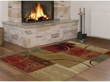 Tayse Rugs Elegance Tacoma Rectangular Multi-Color Area Rug