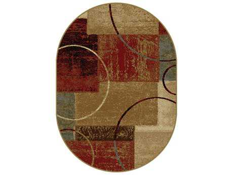 Tayse Rugs Elegance Tacoma Oval Multi-Color Area Rug
