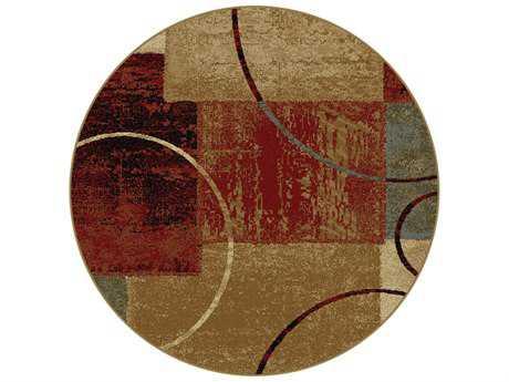 Tayse Rugs Elegance Tacoma Round Multi-Color Area Rug
