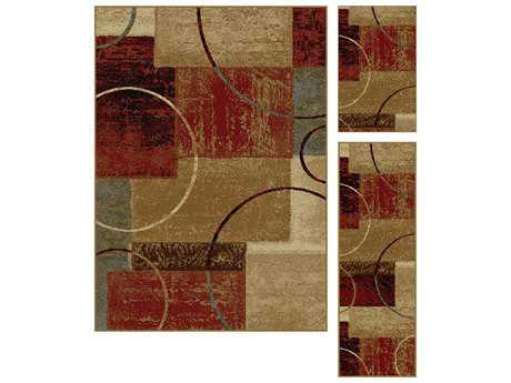 Tayse Rugs Elegance Tacoma Rectangular Multi-Color Area Rug Set