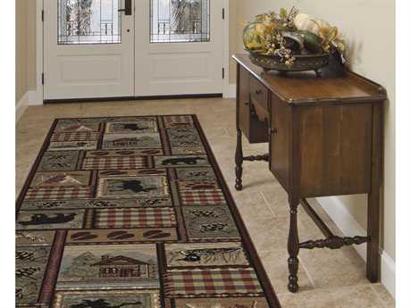 Tayse Rugs Nature Homespun Cabin Rectangular Multi-Color Runner Rug