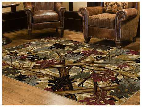 Tayse Rugs Nature Oak Canopy Rectangular Beige Area Rug
