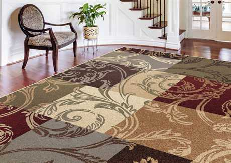 Tayse Rugs Impressions Reagan Rectangular Brown Area Rug