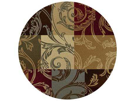 Tayse Rugs Impressions Reagan Multi-Color Round Area Rug