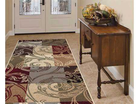 Tayse Rugs Impressions Reagan Rectangular Multi-Color Runner Rug