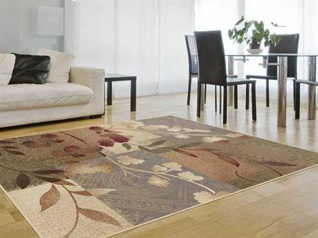 Tayse Rugs Impressions Emilie Rectangular Brown Area Rug