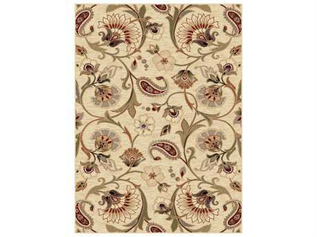 Tayse Rugs Impressions Fairfield Rectangular Ivory Area Rug