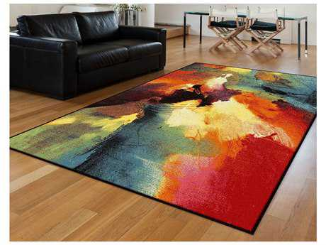 Tayse Rugs Avon Vida Rectangular Orange Area Rug