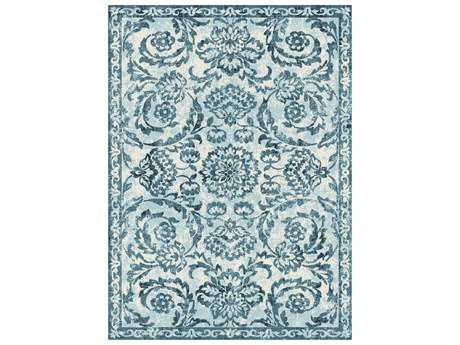 Tayse Rugs Concept Melany Rectangular Blue Area Rug