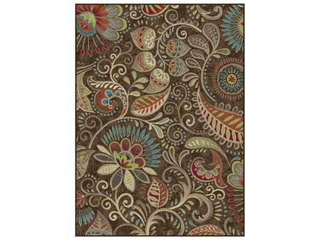 Tayse Rugs Capri Giselle Rectangular Brown Area Rug