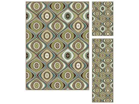 Tayse Rugs Deco Brynn Rectangular Beige Area Rug Set