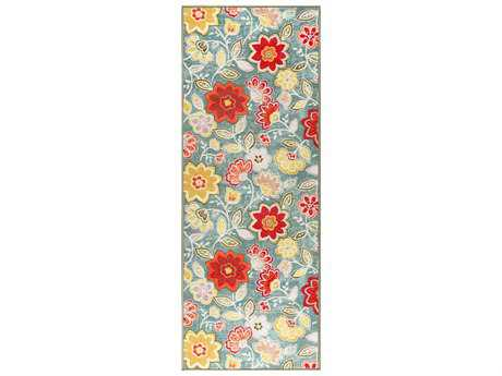 Tayse Rugs Expressions Isla Rectangular Light Blue Runner Rug
