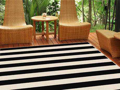 Tayse Rugs Garden City Florence Rectangular Black Area Rug