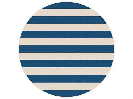 Tayse Rugs Garden City Florence 7'10'' Round Navy Area Rug