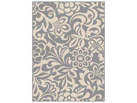 Tayse Rugs Garden City Tahari Rectangular Gray Area Rug