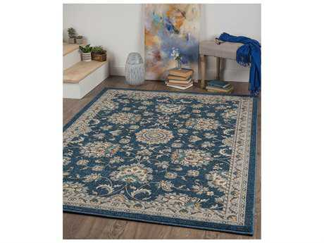 Tayse Rugs Kensington Milena Rectangular Navy Area Rug
