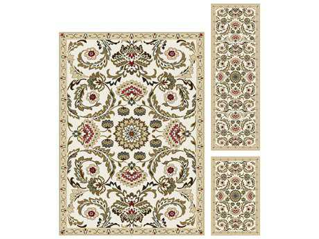 Tayse Majesty Rectangular Cream Area Rug