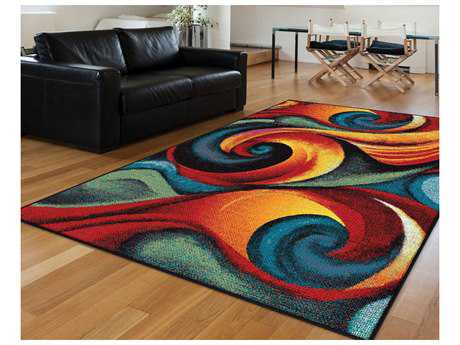 Tayse Rugs Symphony Susan Rectangular Multi-Color Area Rug