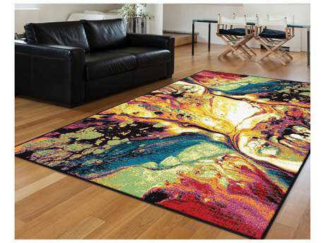 Tayse Rugs Symphony Soleil Rectangular Multi-Color Area Rug