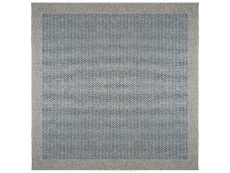Tayse Serenity 7'6'' Wide Square Light Blue Area Rug