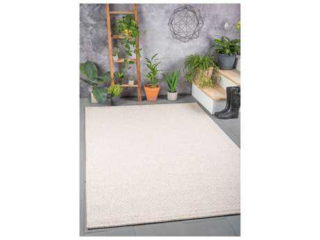 Tayse Serenity Rectangular Cream Area Rug