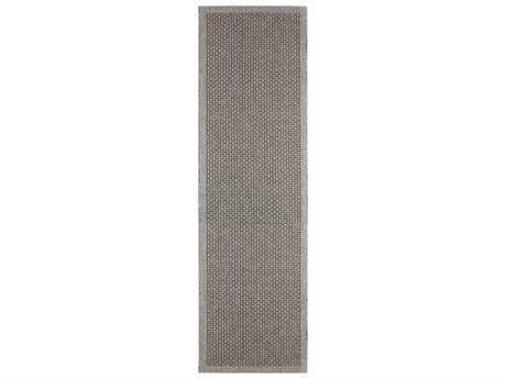 Tayse Serenity Rectangular Charcoal Runner Rug