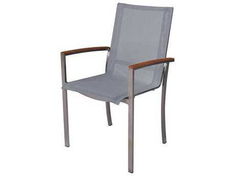 Three Birds Casual Avanti Stainless Steel Stacking Armchair PatioLiving