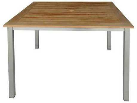 Three Birds Casual Avanti Stainless Steel 40 Square Dining Table