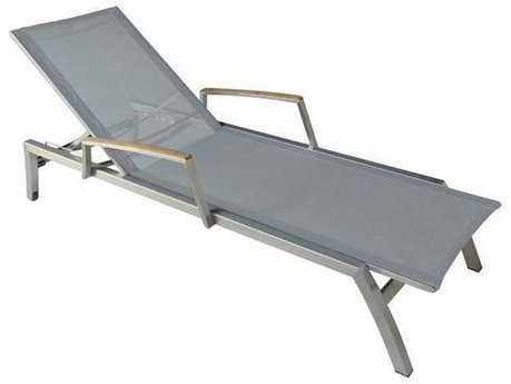 Three Birds Casual Avanti Stainless Steel Lounger TBAV70