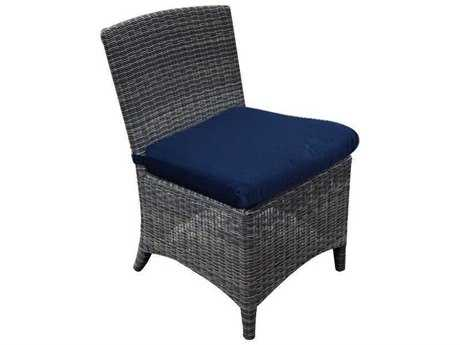 Three Birds Casual Bella Wicker Dining Side Chair - FRAME ONLY