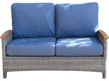 Three Birds Casual Bella Deep Seating Wicker 2-Seater Sofa