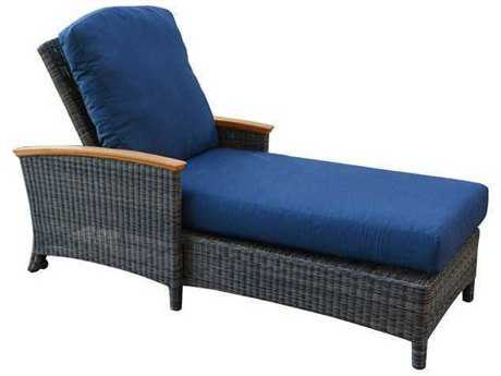 Three Birds Casual Bella Wicker Chaise Lounger TBBE70