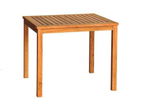 Three Birds Casual Brunswick Teak 36 Square Dining Table