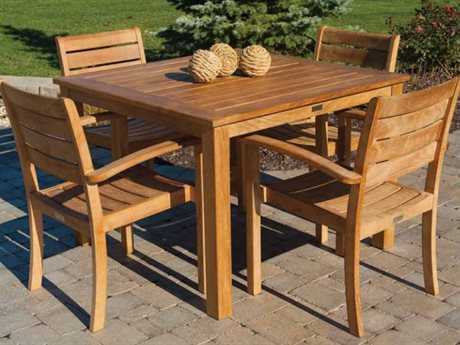 Three Birds Casual Brunswick Teak Dining Set